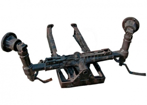 The front axle