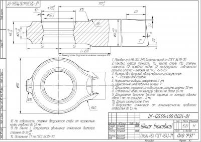 «Шток» ЦГ-125.50×400.11.024-01