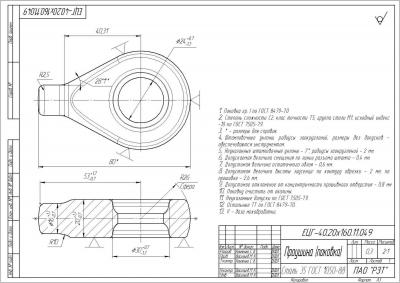 «Проушина» ЕЦГ-40.20×160.11.049